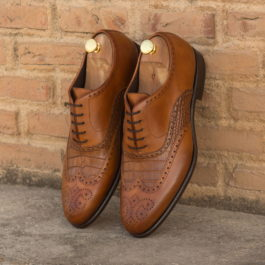 Brogue Leather Shoes Dual Shade