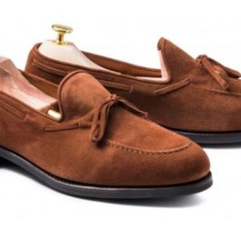 Tan Suede Leather Shoes | Handcrafted Slip-On