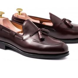 Cherry TASSEL Loafer | Handmade Shoe | Genuine Leather