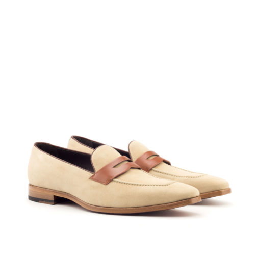 Cognac Box Calf Med Brown Loafer Shoes