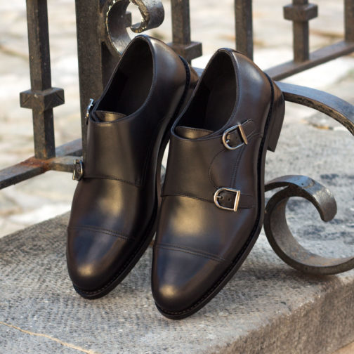 Double Monk Strap Leather