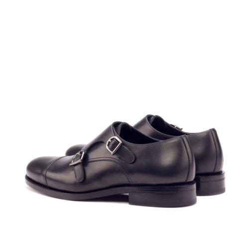 Double Monk Strap Leather Men shoes