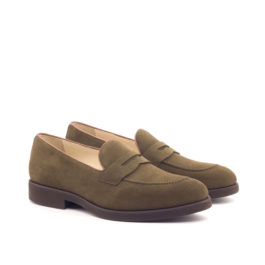 Brownmanshoes Khaki Luxury Suede Loafer Shoes