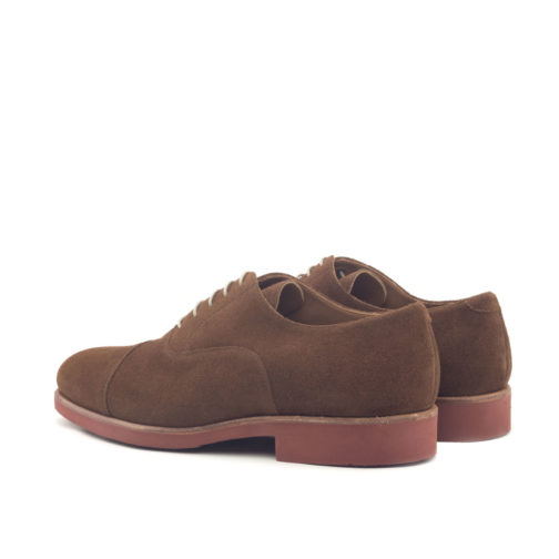 Med Brown Lux Suede Oxford Leather Shoes
