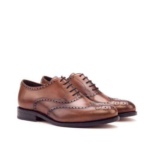 Med Brown Painted Calf brogue shoes