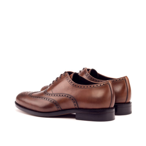 Med Brown Painted Calf brough leather shoes