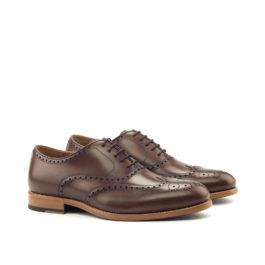 Brown Leather Brogue Shoes