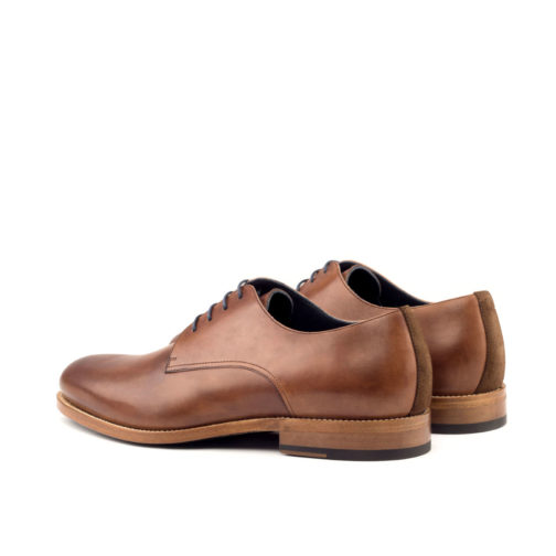 med brown painted calf derby formal shoes