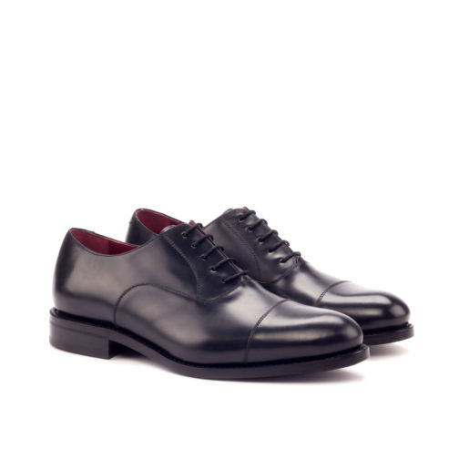 oxford black leather handmade shoes