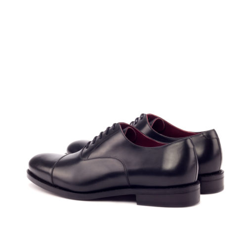oxford leather black color handmade shoes