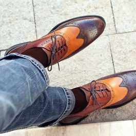 Brown Brogue Leather Handmade Shoes