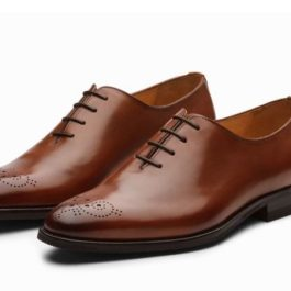 Best Plain Tan Leather Shoe | Handcrafted Designer Shoe