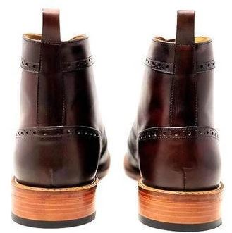 leather shoes long boot