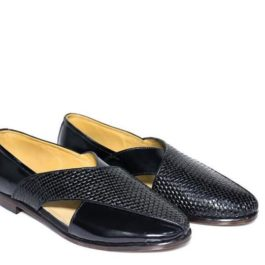 Black Peshawari Handmade | Leather Handcrafted Jutti