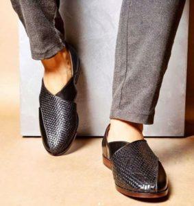 leather jutti sandal