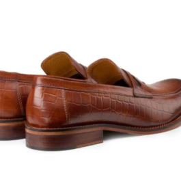 Brown Croco Leather Loafer