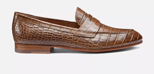 handmade leather loafer shoes