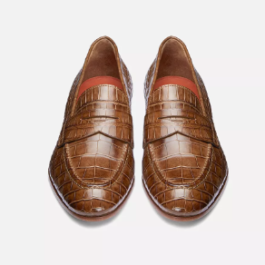 Croco Leather Loafer | Handcrafted shoes