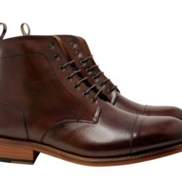 Brown Leather Lace-up Boot