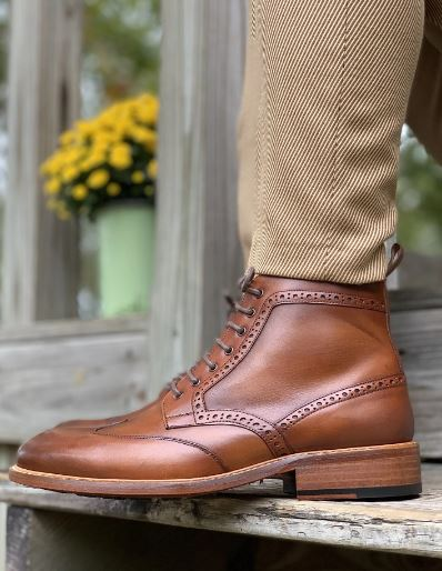 long boot brogue style
