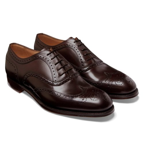 brown leather shoes
