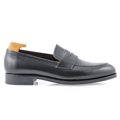Black Penny Leather Loafer