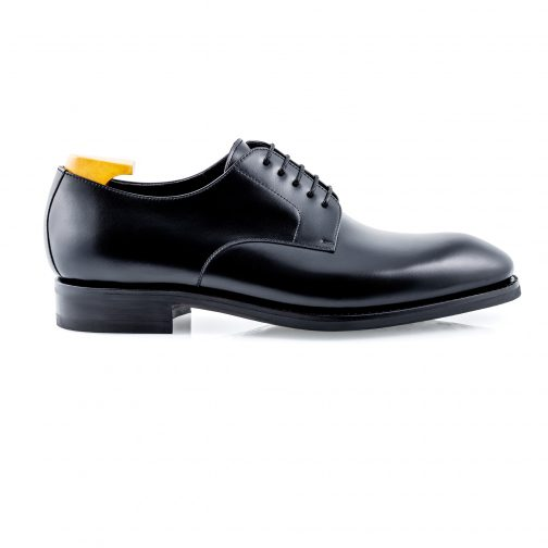 Black Plain Derby Shoes