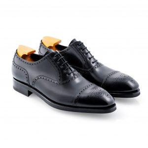 Black Semi Brogue Shoe