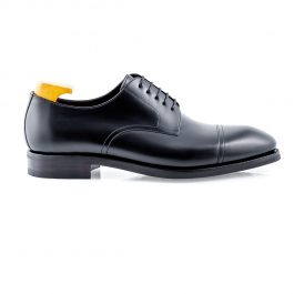 Black Toecap Derby Shoe