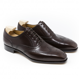 Brown Brogue Leather Shoe