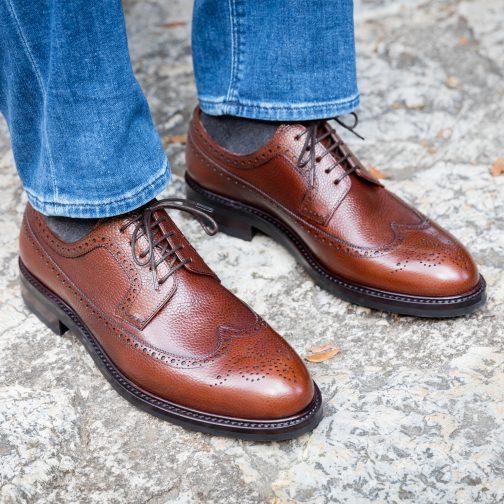Brown Longwing Derby Shoe
