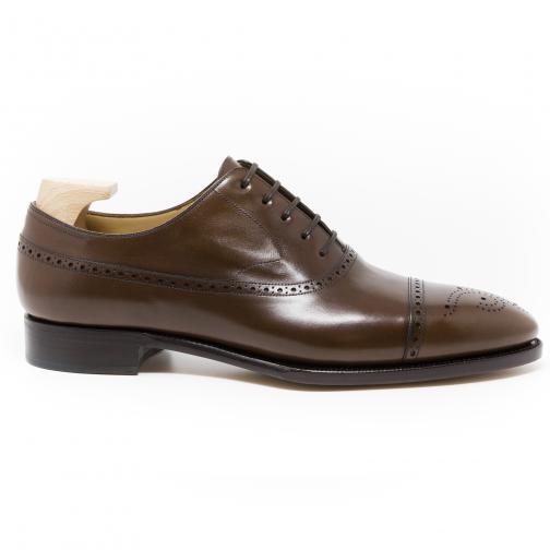 Brown Semi Longwing Leather Shoe