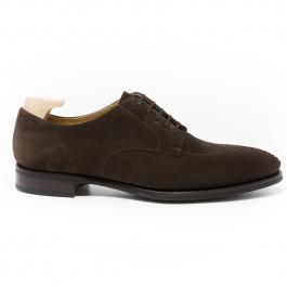 Dark Brown Suede Shoe
