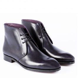 Black Derby Leather Boot