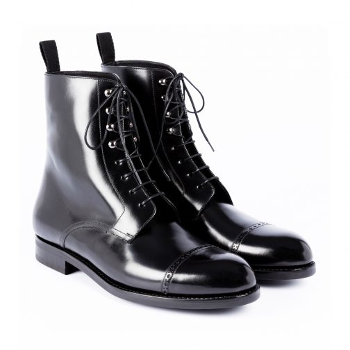 Black Long Lace Up Boot