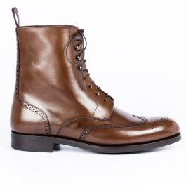 Brown Leather Long Boot