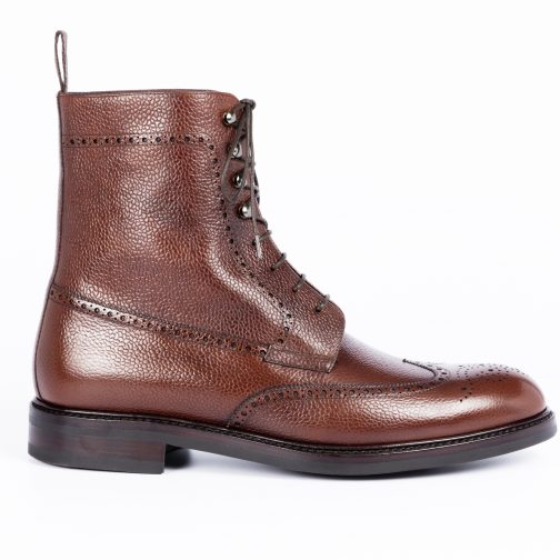 Brown Full Grain Long Boot