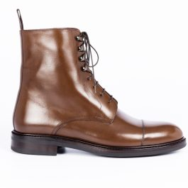 Brown Oxford Leather Boot