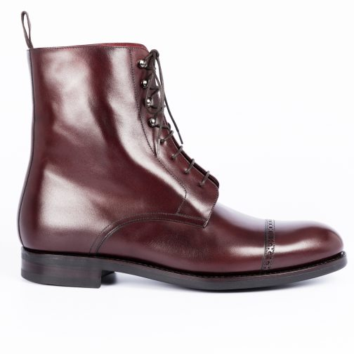 Burgundy Long Lace up Boot