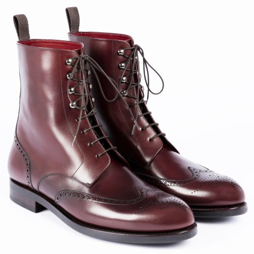 Burgundy Leather boot
