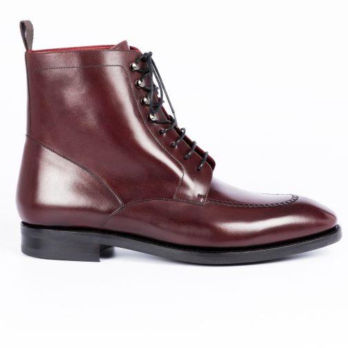 Burgundy Plain Leather Boot