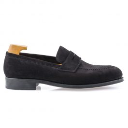 Black Suede Leather Loafer