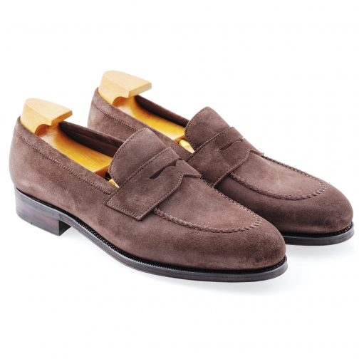Brown Suede Penny loafer